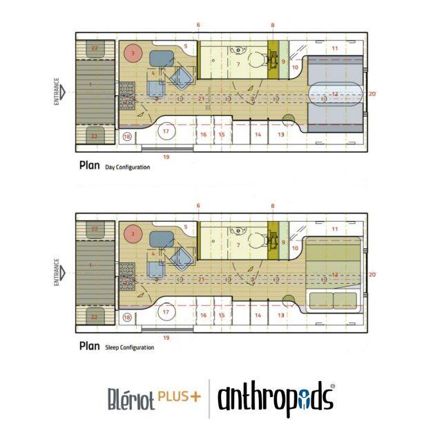 Anthropod Plus Floorplan